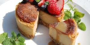 Vegan baked cheese cake